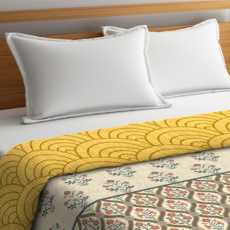 PORTICO Shalimaar Printed Cotton King Double Bed Comforter - 224 x 274 cm