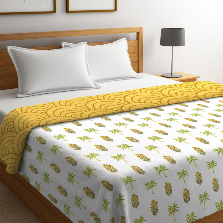 PORTICO Shalimaar Printed Cotton Double Bed Comforter - 224 x 274 cm