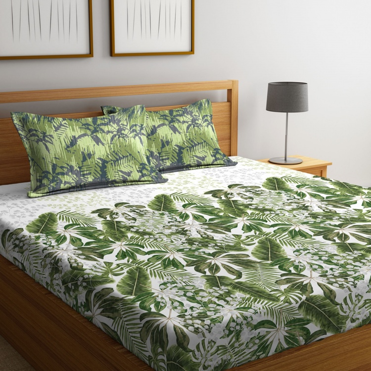 PORTICO Rain Forest Printed 3-Piece King-Size Bedding Set - 274 x 274 cm