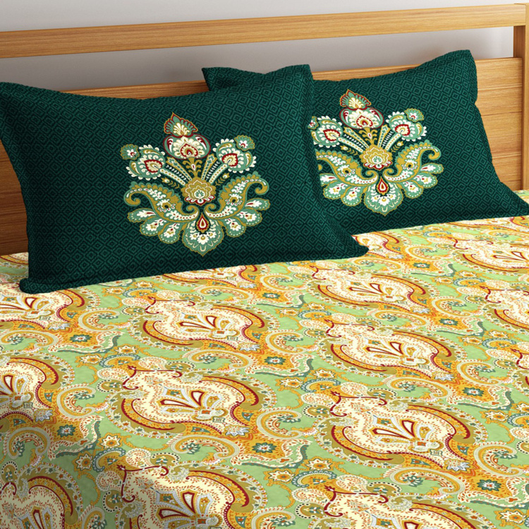 PORTICO NEW YORK Shubmangalam 3-Pc. Super King Bed Cover-274 x 274 cm