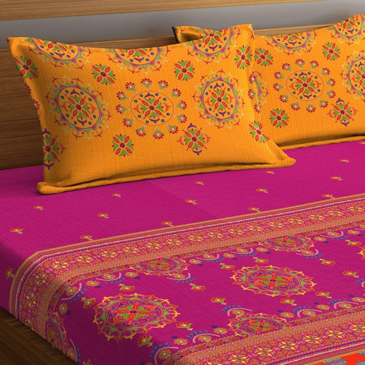 PORTICO Neeta Lulla Printed 3-Piece King-Size Bedding Set - 274 x 274 cm