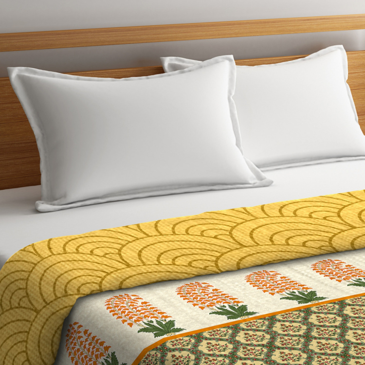PORTICO Shalimaar Printed Double Bed Dohar - 224 x 254 cm