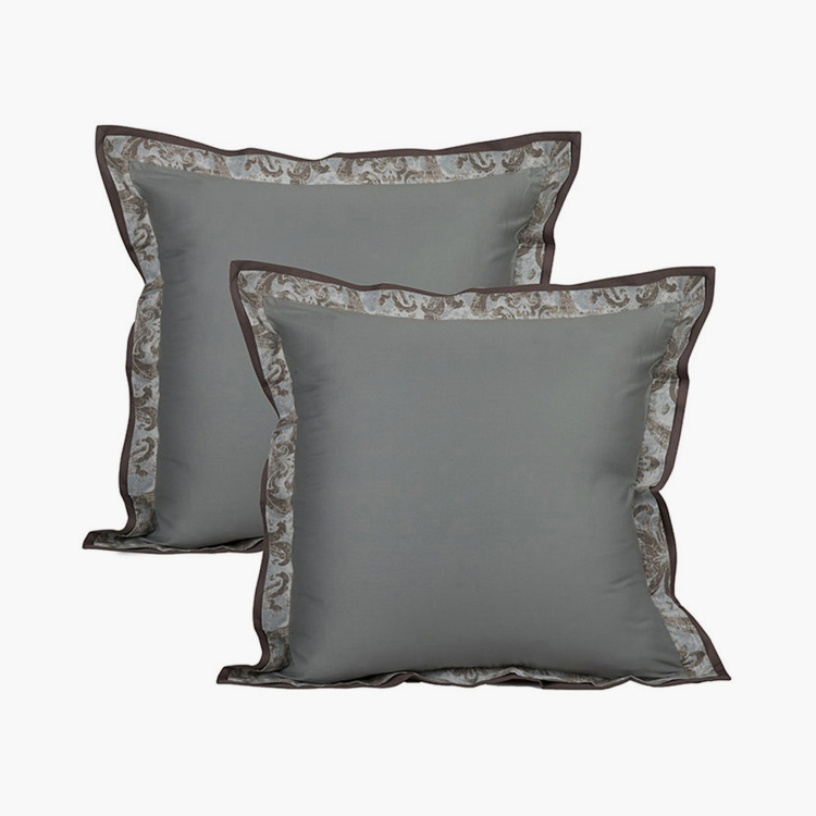 MASPAR Medieval Solid Pillow Covers - Set of 2 Pcs. 60 x 60 cm