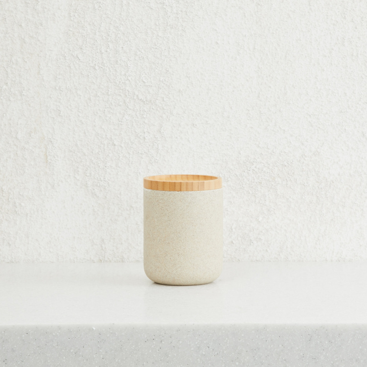 Emerson Solid Jar with Bamboo Lid