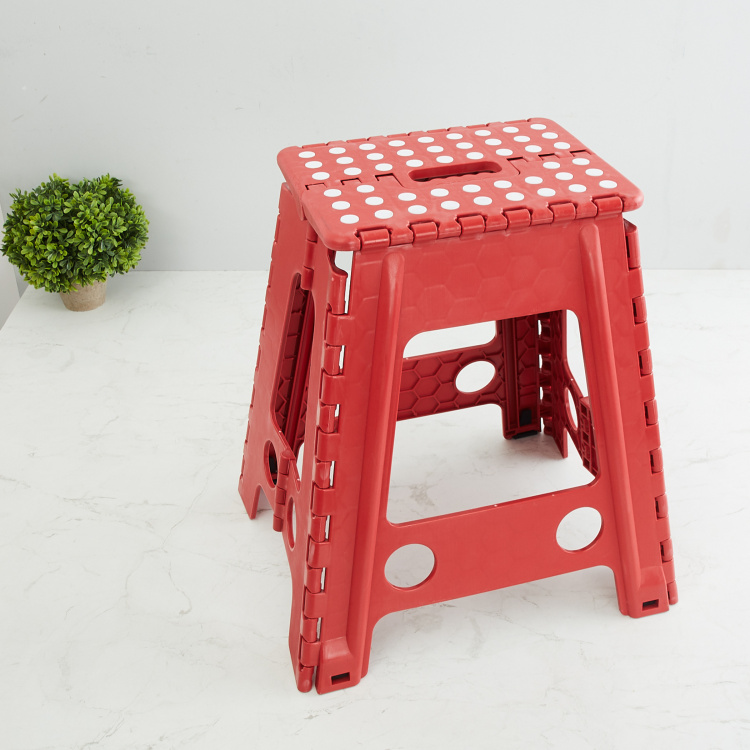 Saffiano Cygnus Printed Folding Stool