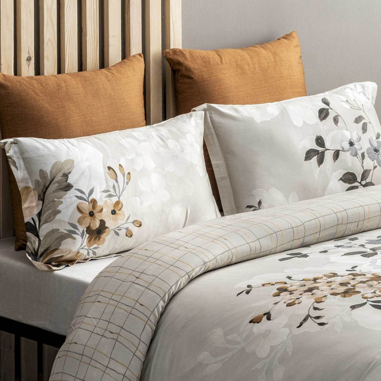 D'DECOR Esteem Printed Cotton 3-Piece Bedding Set - 274 x 274 cm