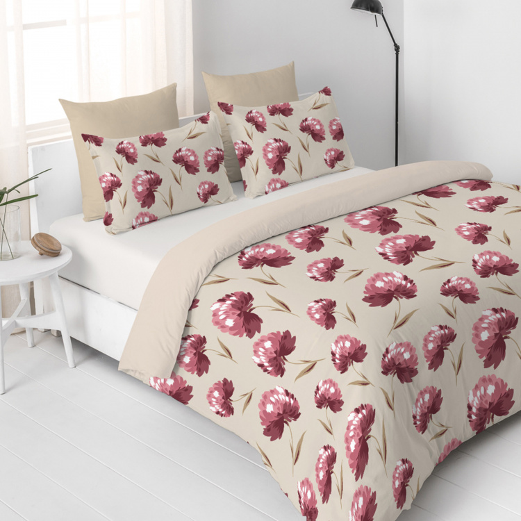 D'DECOR Viva Printed Cotton 3-Piece Bedding Set - 229 x 254 cm