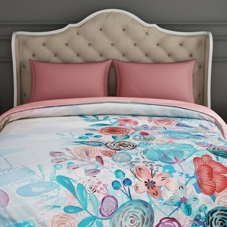 SPACES Floral Print Quilt Blanket - 218 x 270 cm