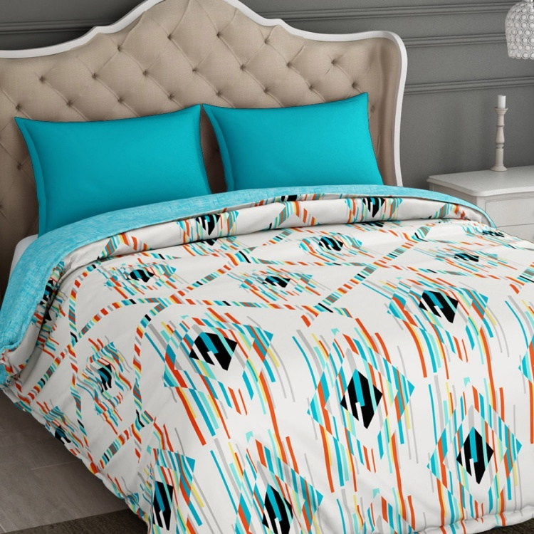 SPACES Essentials Printed Cotton Double Quilt - 218 x 270 cm