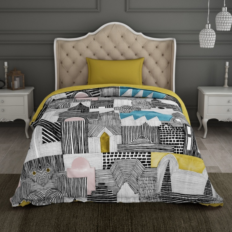 SPACES Printed Single Bed Comforter - 150 x 218 cm