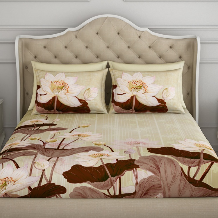 SPACES Occasions Printed Cotton 3-Piece Double Bedding Set - 224 x 274 cm