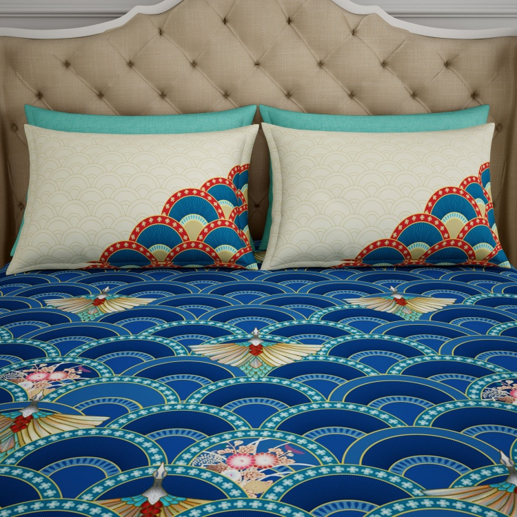 SPACES Printed Single Bedsheets Set of 3 Pcs.