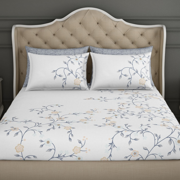 SPACES Occasions Printed Cotton 3-Piece Double Bedding Set - 274 x 274 cm