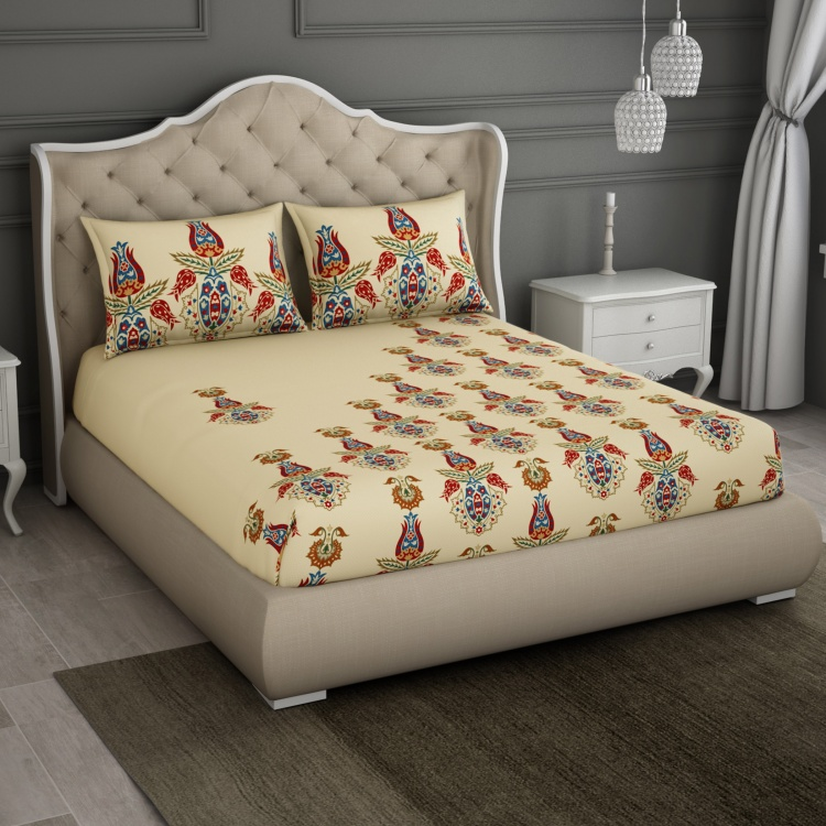 SPACES Printed 3-Piece Double Bedding Set - 274 x 274 cm