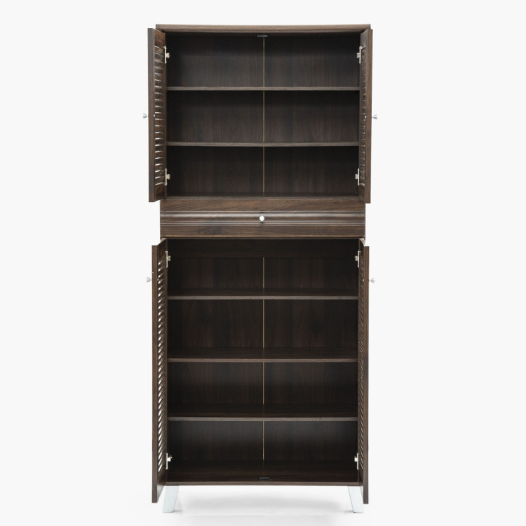 Lewis Four Door Shoe Cabinet With One Drawer- 24 Shoes