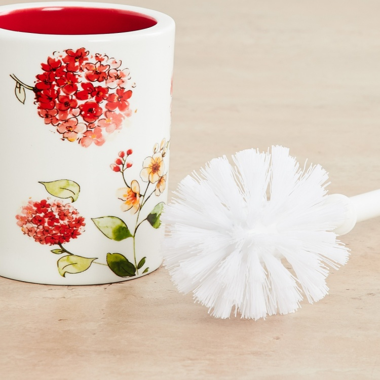 Hudson Floral Print Toilet Brush holder
