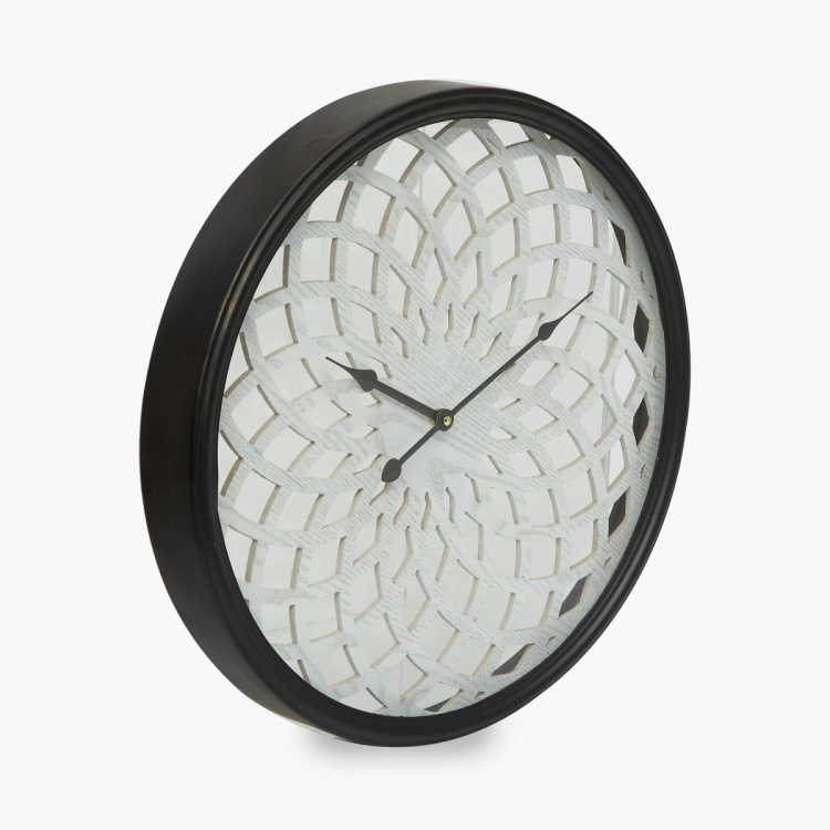 Casablanca Textured Wooden Wall Clock