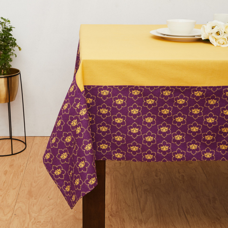 Mandarin Lotus Printed Table Cover - 150 x 200 cm