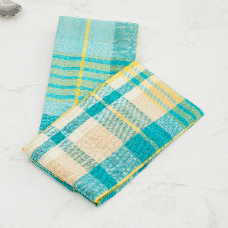 Meadows Bloom Checked Napkins - Set of 2