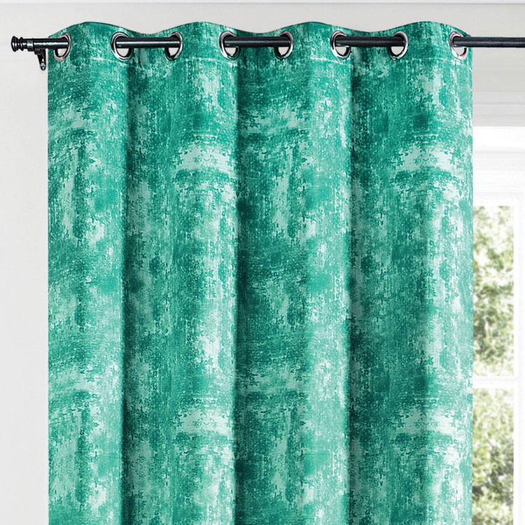 DECO WINDOW Printed Blackout Door Curtain Pair - 132 x 274 cm