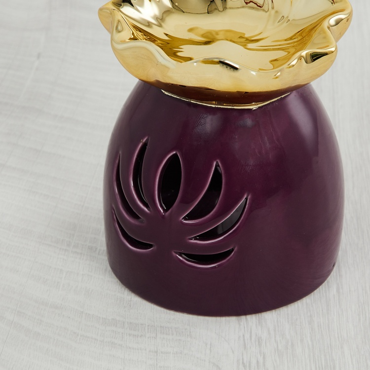 Redolance Lotus-Shaped Burner with Cut-outs