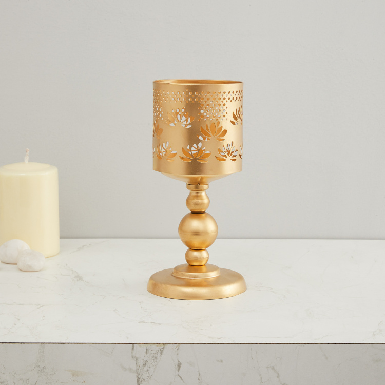 Splendid Round Pillar Candle Holder