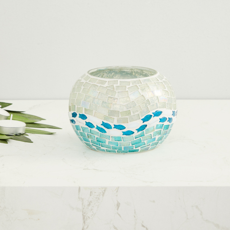 Splendid Textured Round Votive Holder