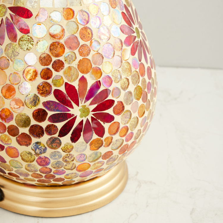 Mariana Textured Round Table Lamp
