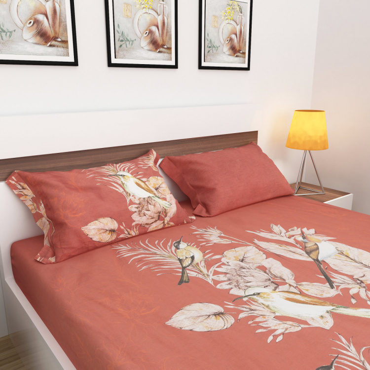 Matrix Camilia Set of 3 King Size Printed Bedsheet Set