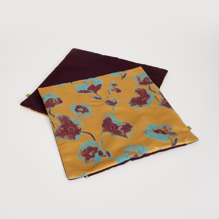 Celebration Floral Print Square Cushion Covers - Set of 2 - 40 x 40 cm