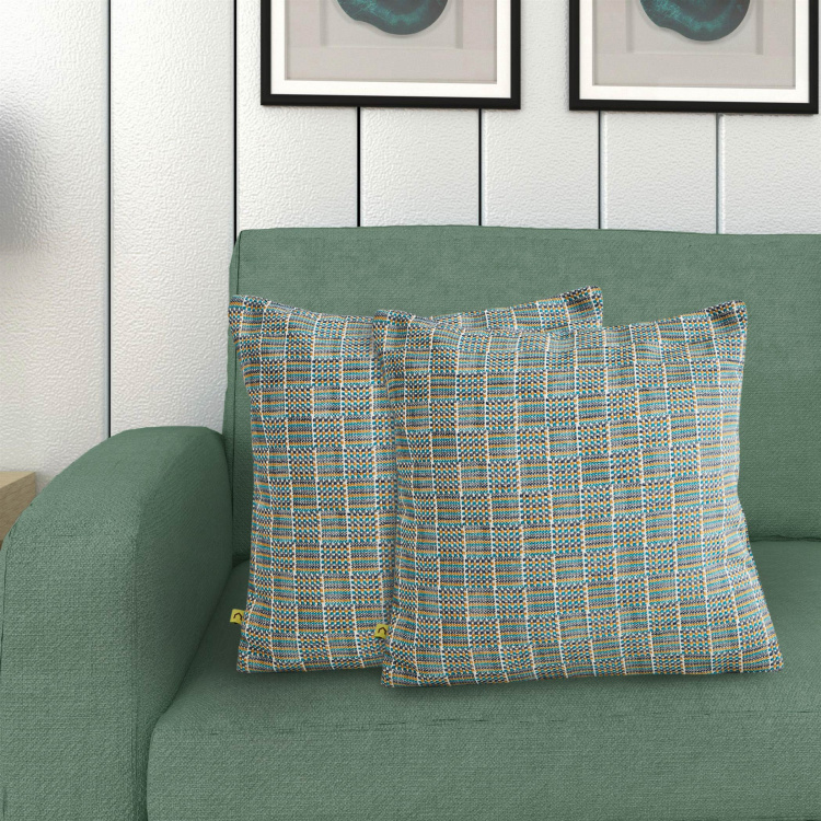 Celebration Printed Cushion Covers - Set of 2 - 30 x 30 cm