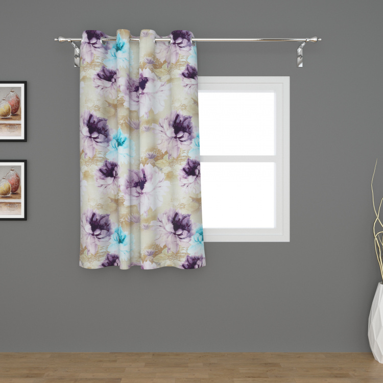 Matrix Panama Printed Window Curtain - 135 X 160 cm