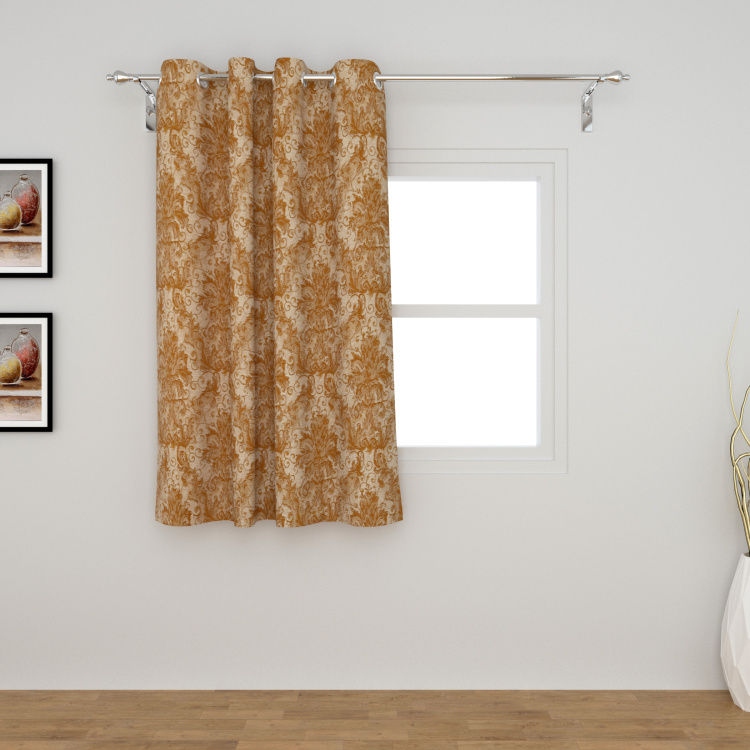 Matrix Floral Print Semi-Blackout Window Curtain-135 x 160 cm