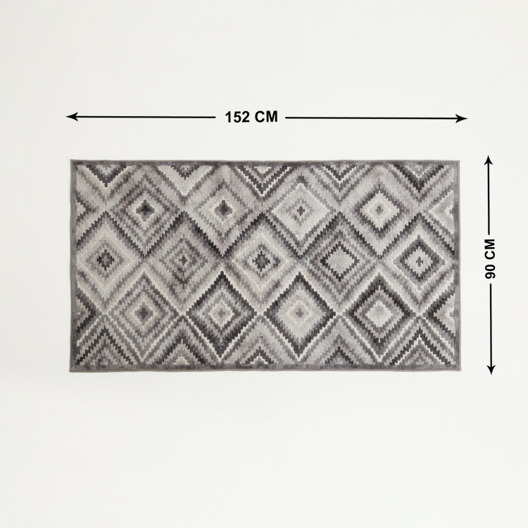 Burnish Praline Geometric Print Carpet - 120 x 180 cm