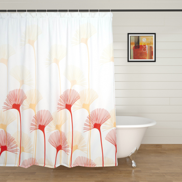 Hudson Printed Ring Rod Shower Curtain - 180 x 180 cm