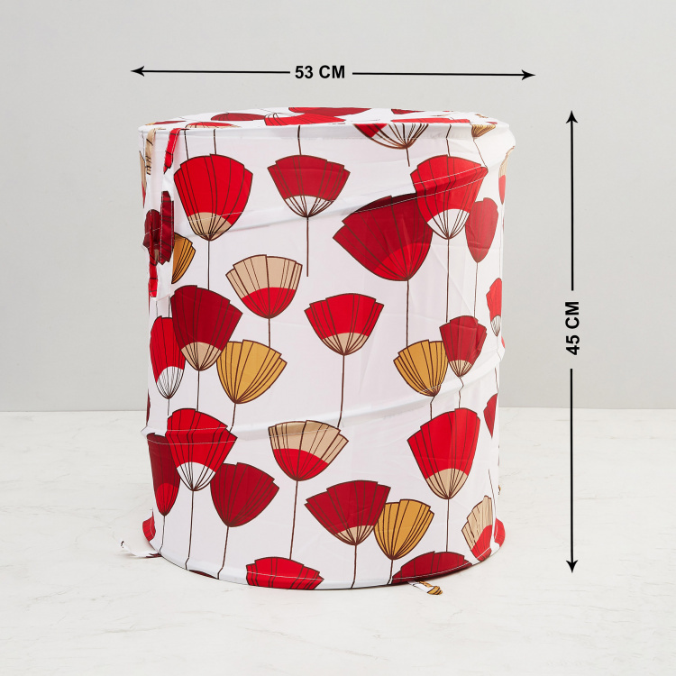 Mekong Printed Round Laundry Basket