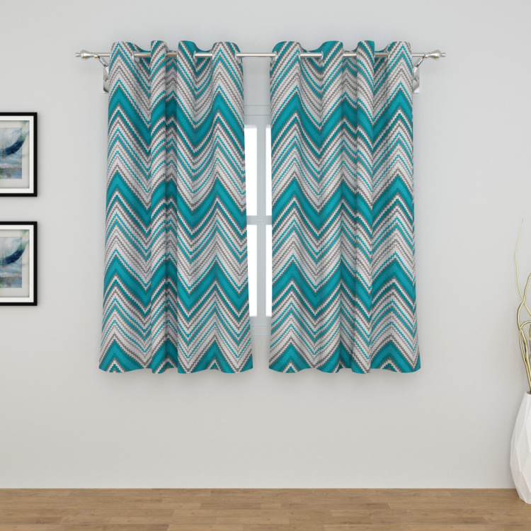 Saddle Set of 2 Printed Window Curtains - 135 X 160 cm