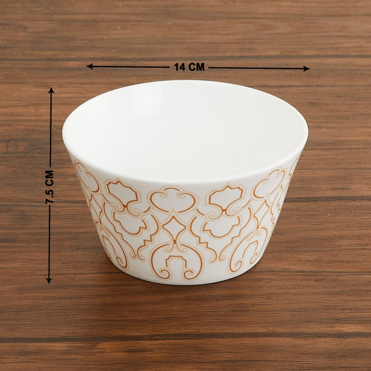 Mandarin Printed Bone China Bowls - Set of 3