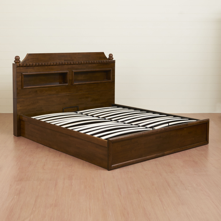 Tagetes Transitional King-Size Bed With Hydraulic Storage - 125 x 196 x 218 cm