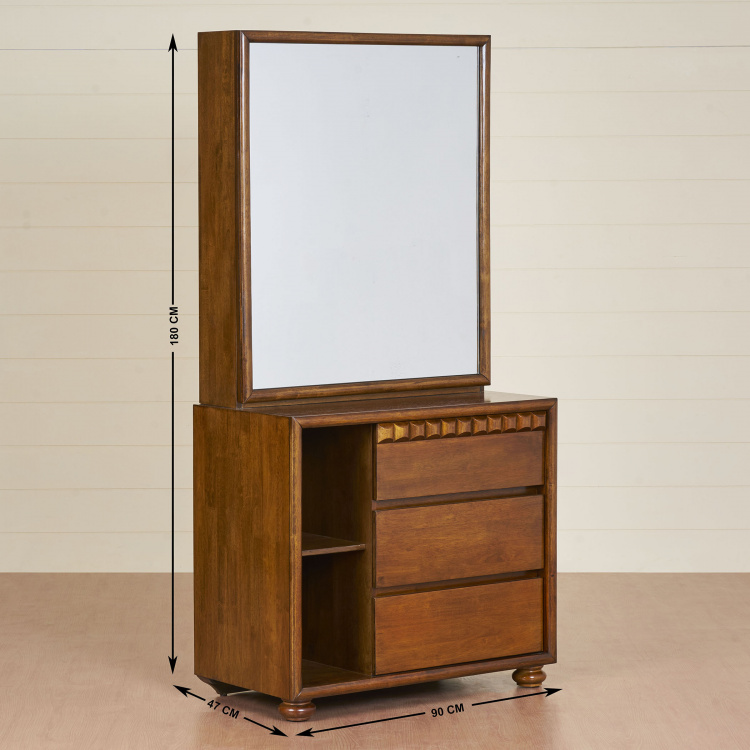 Tagetes Transitional Dressing Table with Mirror