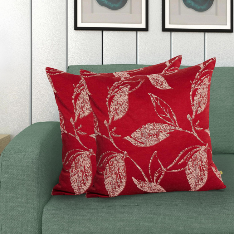 Floss Botanic Printed Cushion Covers - Set of 2 - 40 x 40 cm