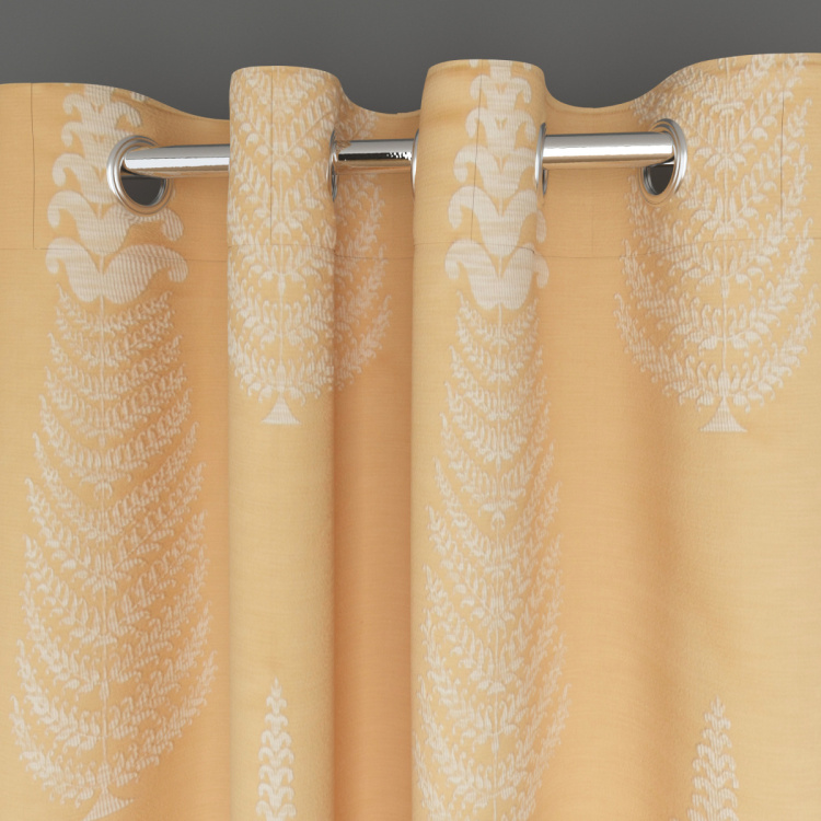 Floss Bouquet Set of 2 Jacquard Patterned Window Curtains - 135 X 160 Cm
