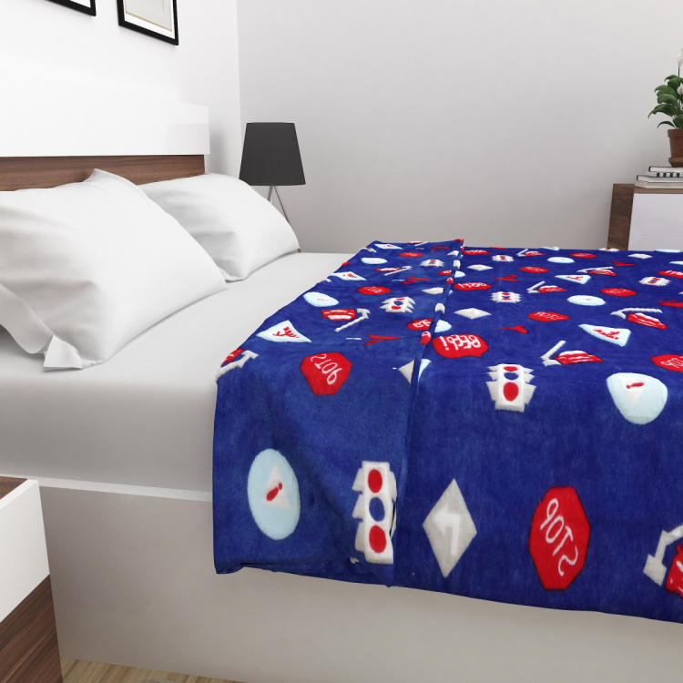 Adventures Of U-Tron Printed Flannel Blanket - 180 x 200 Cm