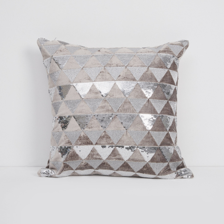 Marshmallow Embellished Cushion Cover - 40 x 40 cm