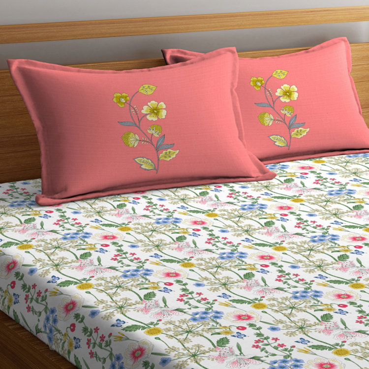 PORTICO Liva Bloom Printed 3-Piece King-Size Bedding Set - 274 x 274 cm