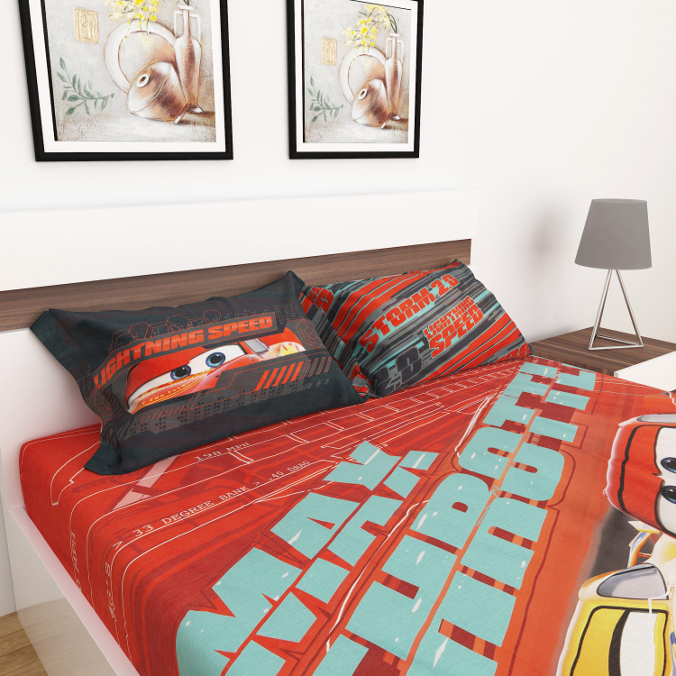 Disney Cars Print 3-Piece Double Bedding Set - 228 x 254 cm