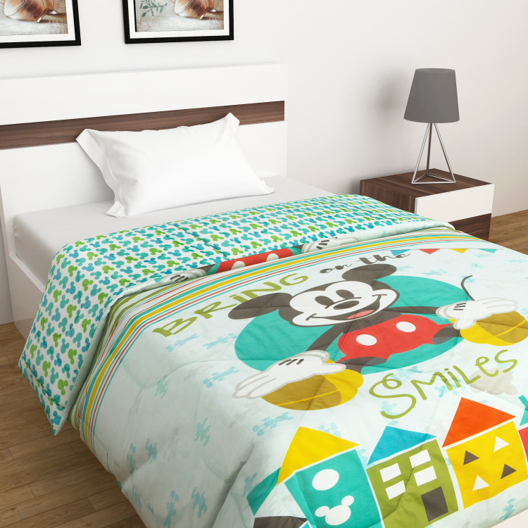 Micky And Minnie Printed Cotton Comforter - 135 x 225 cm