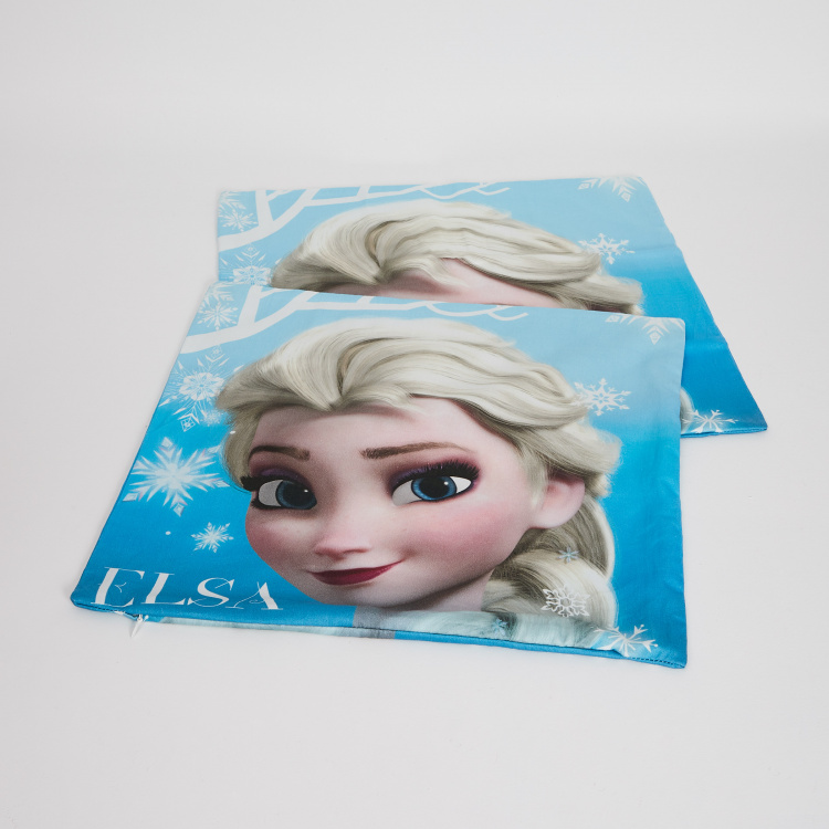 Disney Princess Printed Cotton Cushion Covers - Set of 2