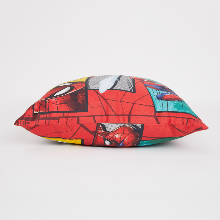 Marvel Spiderman Printed Cotton Cushion Covers - Set of 2