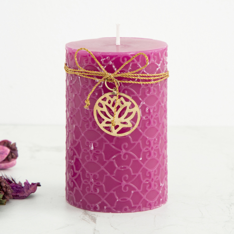 Redolance Floral Accent Pillar Candle
